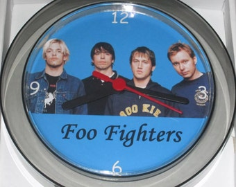 Foo Fighters novelty wall clock 17.5cms Brand New
