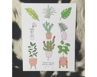 Botanical House Plant Print