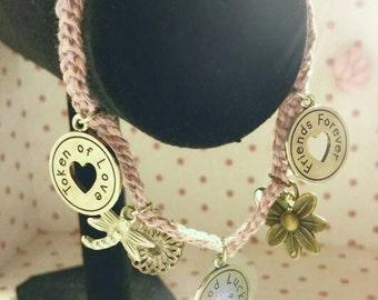 Pink Friends Forever Charm Bracelet