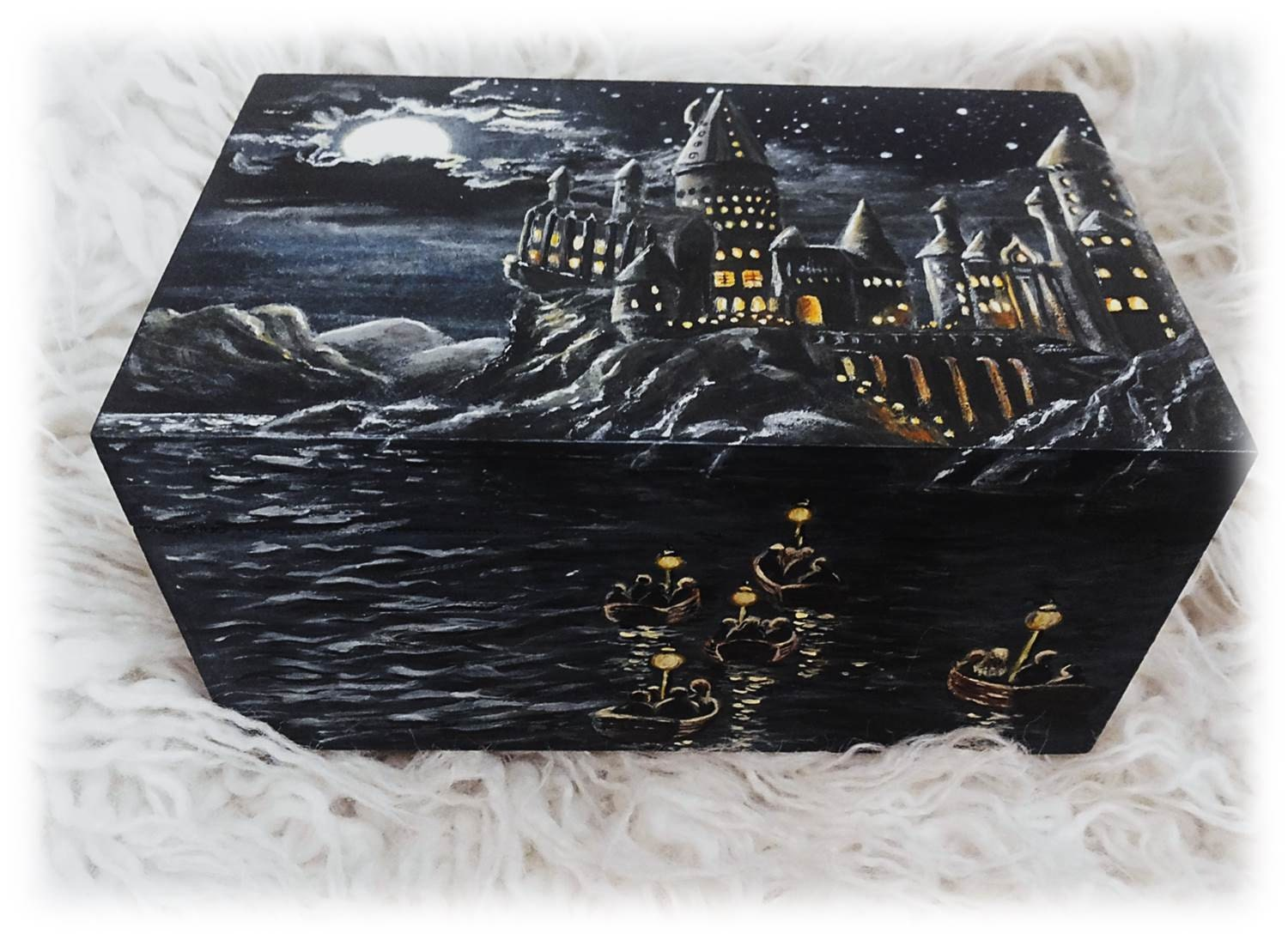 Painted Wooden Box Acrylic