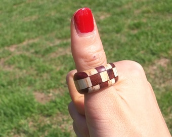 Chansthinks Wood Segmented Ring