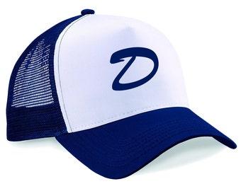 Trucker Cap Clementine's Hat - Letter D Snapback Printed Half Mesh Baseball Trucker Cap