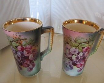 USONA Goodwin Grape Motif Lemonade Cups c. 1905-1912 (includes 2)