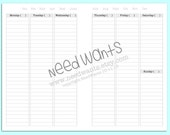 Week on Two undated A5 (half letter) PRINTABLE DIGITAL FILES