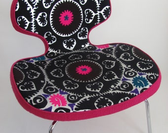 Beautiful chair upholstered with suzani upholstery