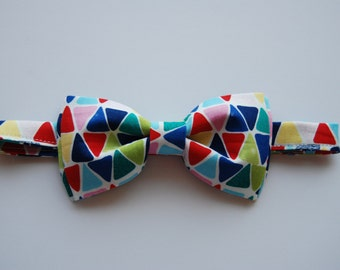 Colorful Geometric bow tie