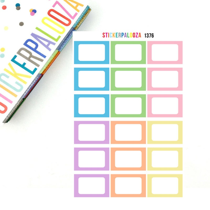 18 half box planner stickers happy planner sticker 1376 for Half page sticker labels