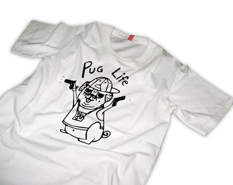 Pug T-Shirt Pug life gangsta