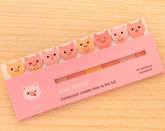 Cute Pig Sticky Notes - Cute Kawaii Post-It Notes / Stationery / Cute Stationary / School Supplies / Stick & Memo / Cute Sticky Notes / Tabs