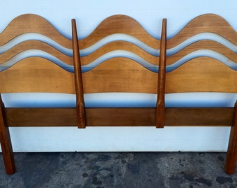 RESERVED FOR SARAH Vintage Waving Bentwood Headboard