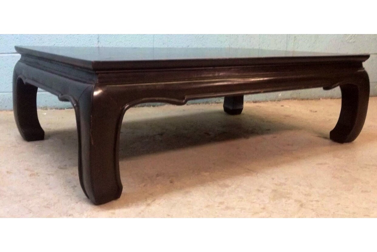 Vintage Asian Style Wooden Coffee Table