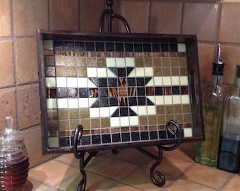 Southwestern Tray, Country Tray, Mosaic Tray, Tile Tray, Southwestern Interiors, Country Interiors, Southwest Decor, Country Decor