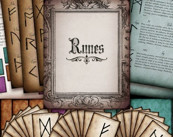 Printable Rune Cards and Rune Book