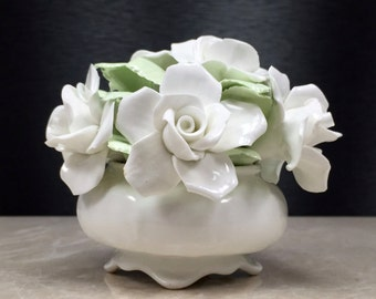Porcelain Rose, China Roses, White Roses, Vintage China Roses, White Roses, Royal Crown, Porcelain Flowers, China Flowers, Floral China