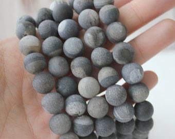 10mm Druzy, Black Druzy Agate, Round Druzy Beads, Black Beads, Gemstone Beads,