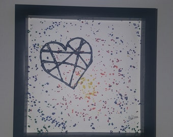 Shadow Box 3D Heart Drawing