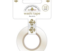 15mm Doodlebug Fleur de Lys Washi Tape For Planners. Washi Supplies. Planner Washi. Decorative Tape.