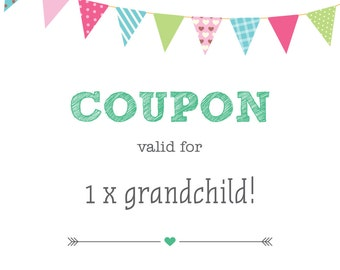 Printable, customisable Pregnancy announcement - Grandparents