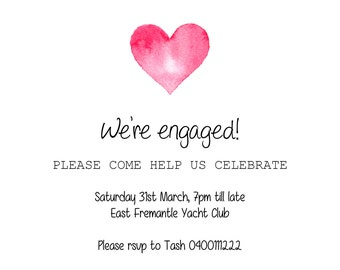 Printable, customisable - Engagement party invite