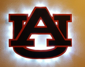 AU Wall Sign with Battery Operated LED Lights