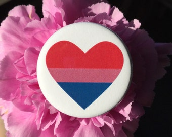 Bisexual pride button // bisexual flag pin