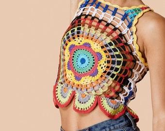 Crochet crop top PATTERN, sexy crochet top PATTERN, detailed instructions in ENGLISH, trendy crochet crop top pattern, summer top