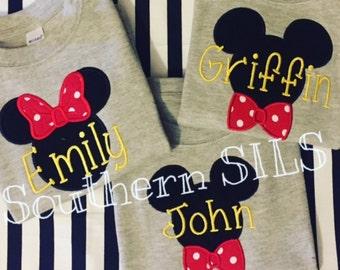 Custom Mickey & Minnie Disney Shirts