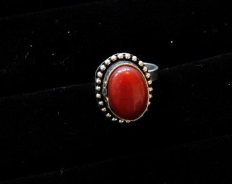 Antique Silver Stone Ring