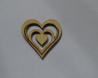 "Plywood heart cca. 3cm (1,18"")"