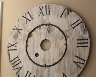 Rustic Spool Clock
