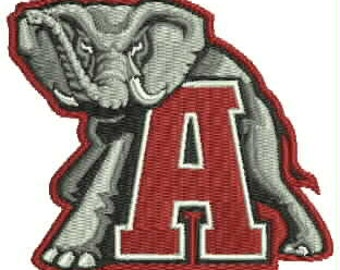 10 inch Full Front/Back University of Alabama Embroidery Design