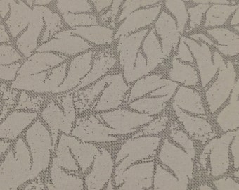 White Blender Fabric. Quilting Cotton. White on White Fabric. Fat quarter. Tree fabric. Leaf Fabric. White Quilting Fabric. Leaf Fabric