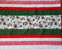 Christmas Quilt, Penguin Quilt, Red Quilt, Green Quilt, Snowman Quilt, Snowflakes Quilt, Ski Slopes, Candy Canes, Penguin Party, Polka Dots