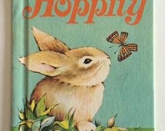 1967 Hoppity Rabbit Rand McNally Child's Story Book