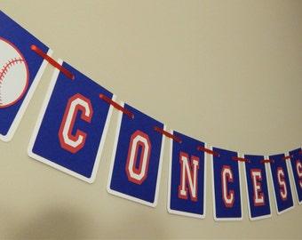 Baseball Themed Concessions Banner, Baseball Shower Decor, Little Slugger, Baseball Banner