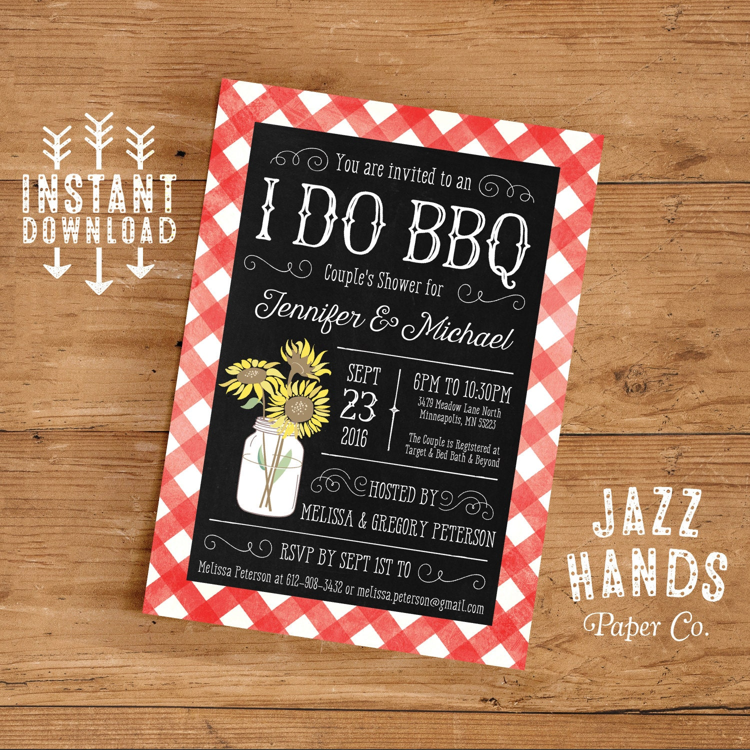 printable i do bbq couples shower invitation template diy. Black Bedroom Furniture Sets. Home Design Ideas