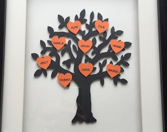 "Personalised Family Trees (14""x11"" frame)"
