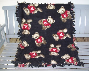 Fleece,Blanket,Bears,Hand Tied,Stroller,Crib,Car Seat Cover,Photo Prop,Gift,Boys,Girls,Infants,Toddlers,Children,Collector,Lapghan