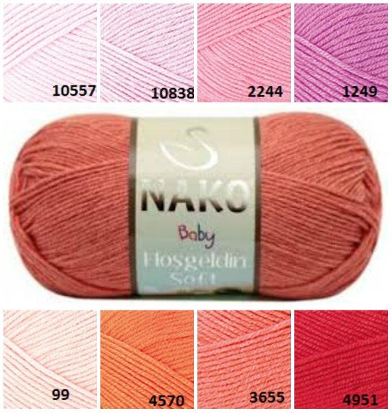 Hand Knitting Yarn Design : Items similar to nako baby yarn red orange pink pattern