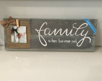 Family Sign, Rustic Wood Sign, Distressed Sign, Home Wall Decor, Wood Stain Sign