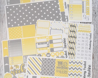 Sunshine---- Weekly Planner Kit ---- {Includes 210+ Stickers}