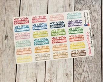 No Spend Multicolor- Happy Planner & Planner Stickers