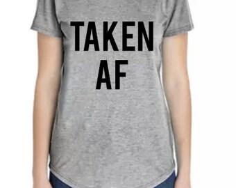 TAKEN AF sccop neck t-shirt