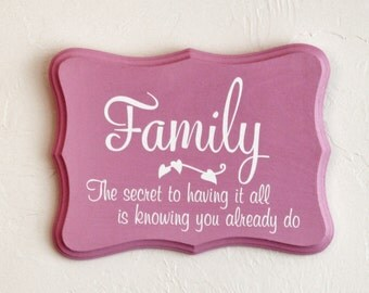 Family Sign - Vinyl Sayings - Vinyl Sign - Wooden Sign - Family Gift