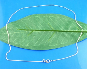 10 Snake Chain with Lobster Clasp, Silver Plated (1T-80) NEW3