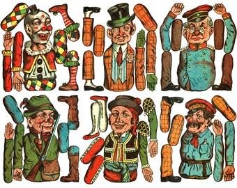 Printable Paper Puppet Paper Dolls Antique Vintage Digital Download