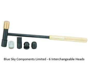 Jewellers Hobby Hammer 6 Changeable Heads Silversmiths Hammer With 6 Heads