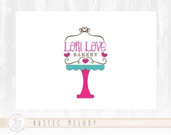 Cupcake Logo Design Cake Stand Logo Bakery Logo Sweets Logo Boutique Logo Cake Logo Watermark
