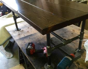 Reclaimed Wood Coffee Table w/ Restoration Industrial Steel Hardware