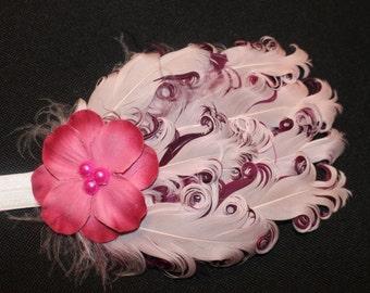 Baby Feather Headband (Pink & Purple )